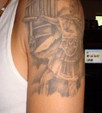 Greek Upper Shoulder Tattoo