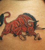 Red Bull Tattoos On Shoulder