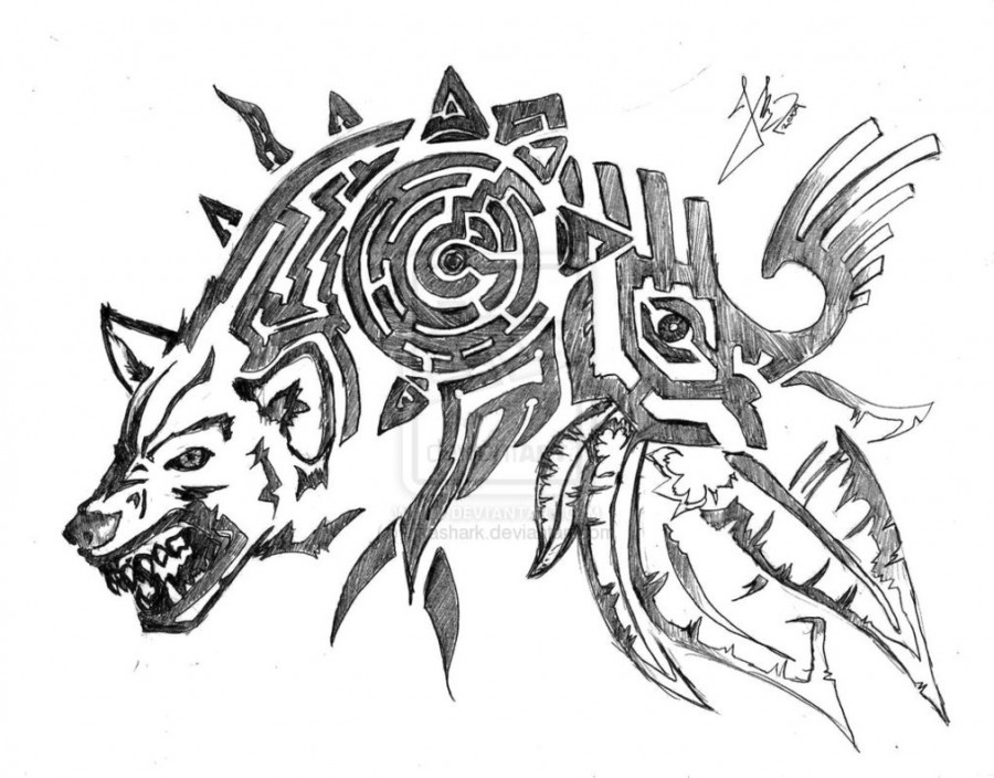 Wolf Shoulder Tattoo Design