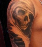 Ladies Skull Shoulder Tattoo Design For Both Men and Women Shoulder