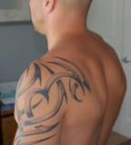 Shoulder Tattoo On Body for Man