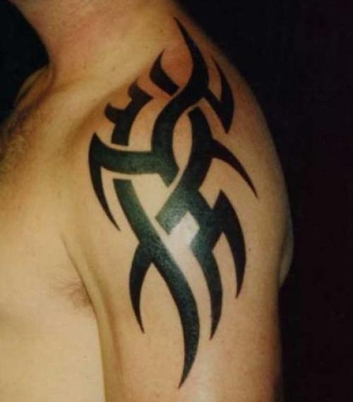 Black Shoulder Tattoos For Men