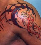 Tribal Tattoo For Shoulder Man