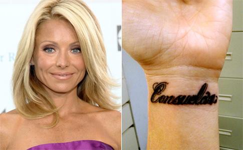 Kelly Ripa's Ankle And A Wrist Tattoo
