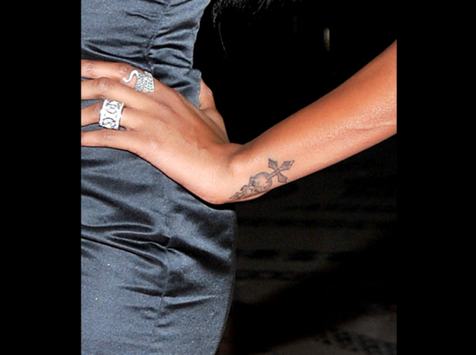 Jessica Whites Wrist Tattoos