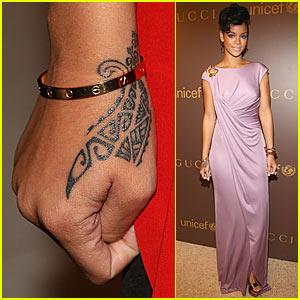 Rihanna's New Wrist Tribal Tattoo