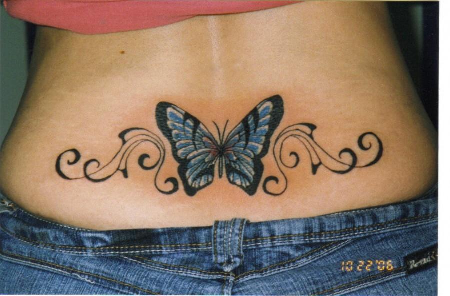 Butterfly Tattoo On Lower Back