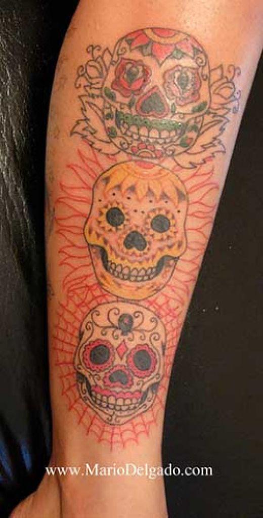 Faces Of Skull Tattoos Designs
