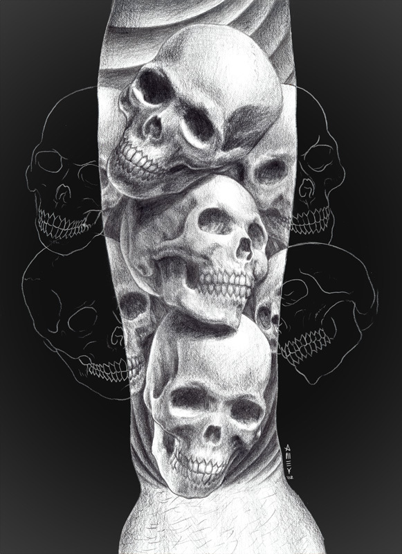 Sketch of Skull Tattoo Meaning And Designs - | TattooMagz › Tattoo ...