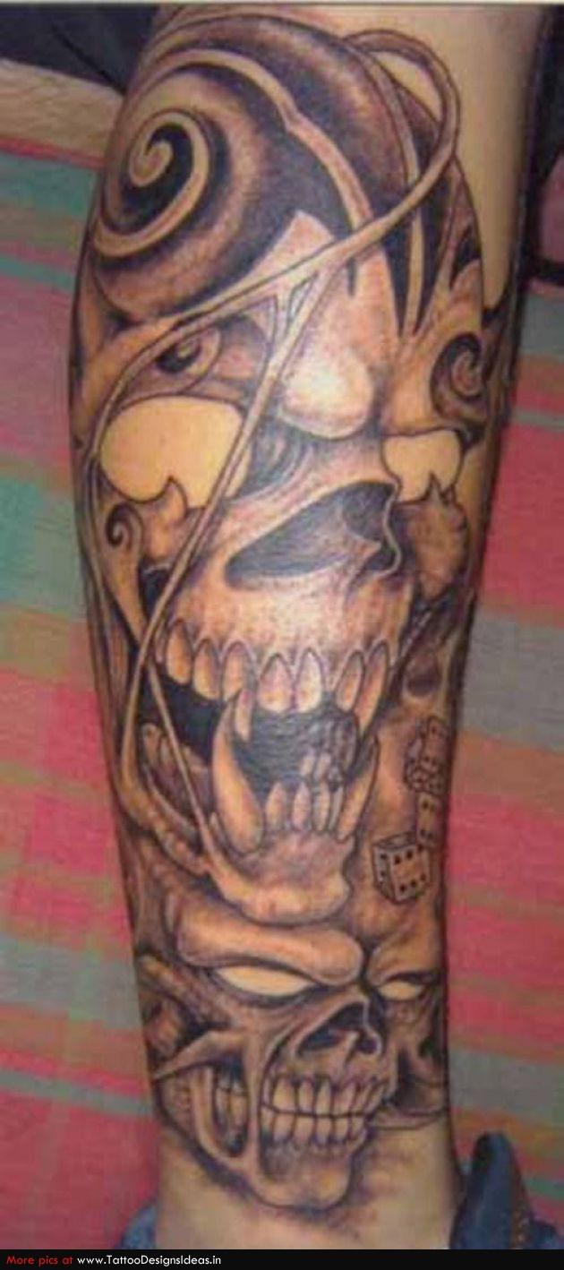 Tattoo Design Of Skull Tattoos