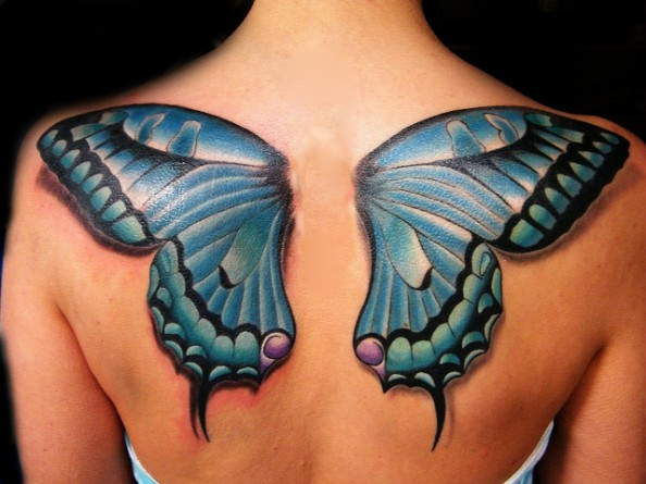 Butterfly Wings Tattoo Design
