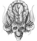 Magnificent Artful Skull Design Picture for Tattoo
