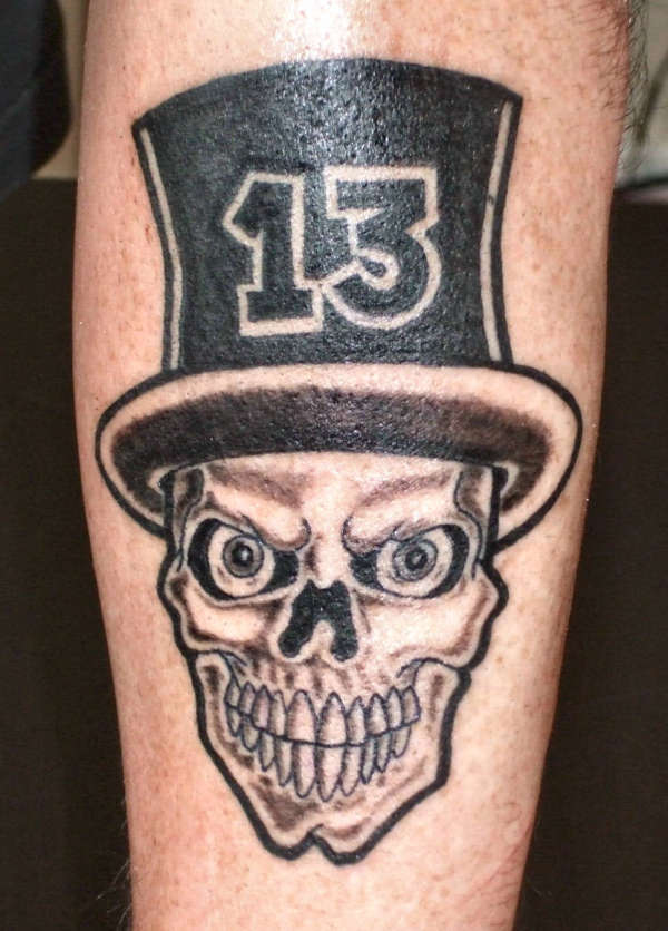 Awesome Creative Skull with Hat 13 Sleeve Tattoo
