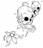 Flower Skulls Tattoo Design By Raikoh101