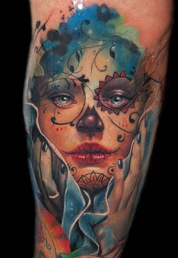 The Sugar Skull Tattoo Day of the Dead