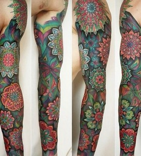 sleeve mandala tattoo