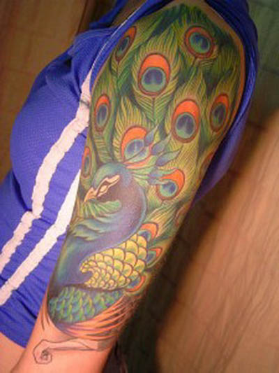 The Best Design Peacock Tattoo 2013