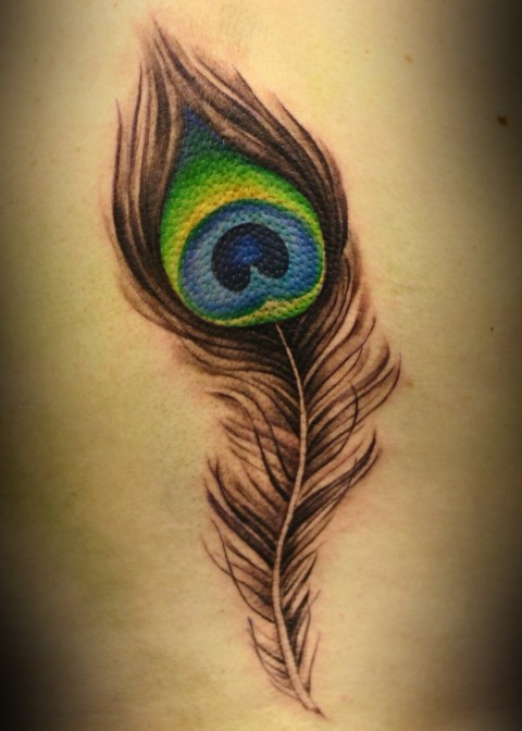 The New Peacock Feather Tattoo Design
