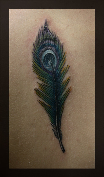 Simson Feather Peacock Tattoo