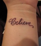 Believe Tattoo Ideas for Wrist