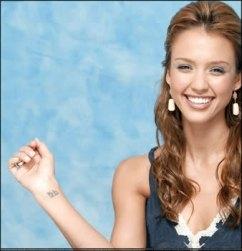 Jessica Alba Wrist Tattoo Designs