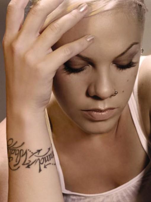 Hand Writing Tattoo Designs on Wrist