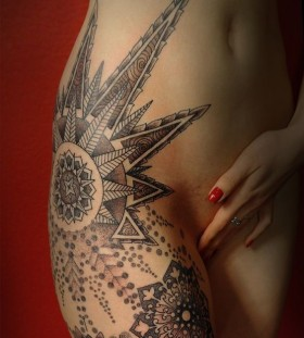 snowflake mandala tattoo