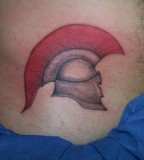 Antique Spartan Helmet Tattoo