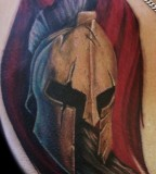 Spartan Helmet Tattoo Art