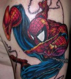 Swinging Spiderman Tattoo