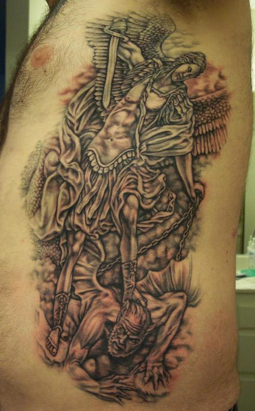 Saint Michael The Archangel  Completed Tattoo