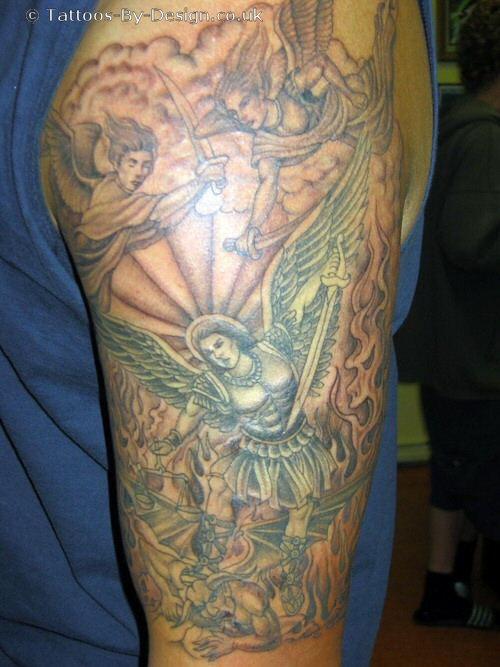 St Michael Tattoo – Color Tattoo ideas