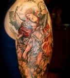 St Michael Tattoo Upper Arm - Shoulder Design