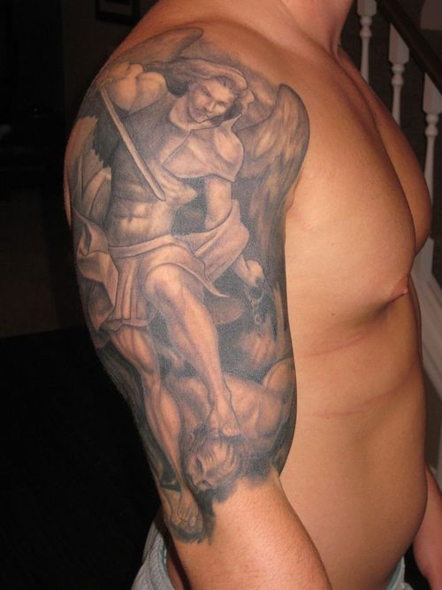 Shoulder Tattoo – St Michael The Archangel Tattoo Picture