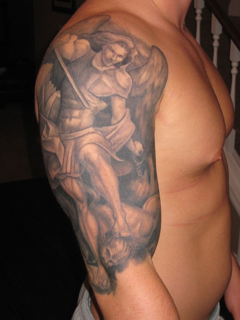 St Michael The Archangel – Upper Arm Tattoo
