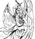 Tattoo Archangel Michael - Black White Tattoo Design
