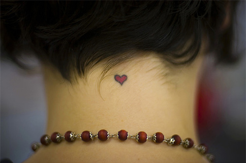 Sweet Heart And Star Tattoo