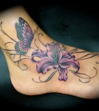 Stargazer Lily Butterfly Monster Ink Tattoo Of Sacramento