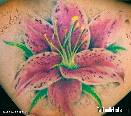 Awesome Stargazer Lily Tattoo Artists