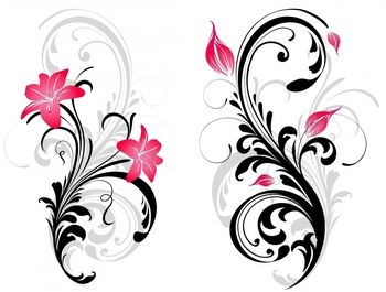 Swirl And Pink Stargazer Lily Tattoo Picture