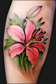 Beautiful Stargazer Lily Tattoo Inspirations