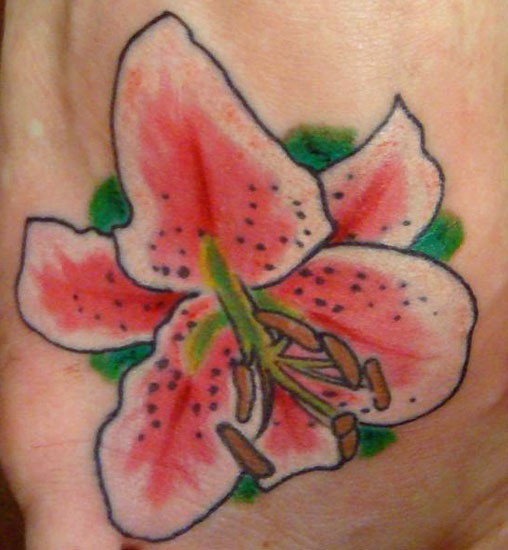 Simple Tattoo Flower Lily Ideas