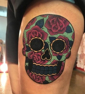 sugar-skull-tattoo-by-megan_massacre