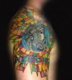 Stained Glass Tattoos Design for Men