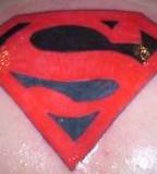 Splendid Superman Chest Tattoo By Omar