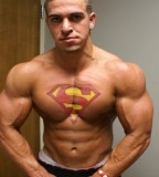 Cool Creative Superman Tattoo On Chest