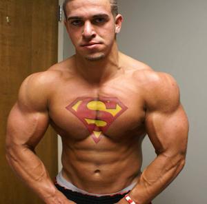 Cool Creative Superman Tattoo On Chest