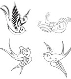 Gorgeous Swallow Birds Tattoo Design