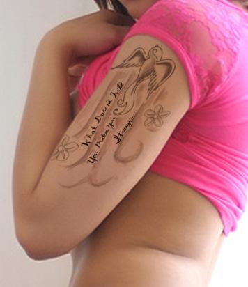 Swallow Bird Tattoo With Stylized Design
