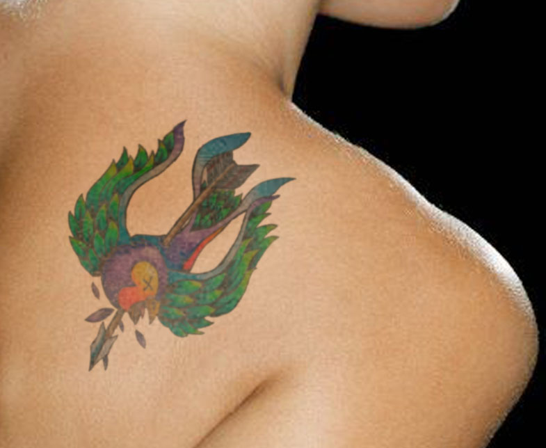Superb Image Of Swallow Bird Tattoo Style
